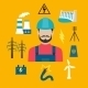 Electricity Industry Concept With Power Icons - GraphicRiver Item for Sale