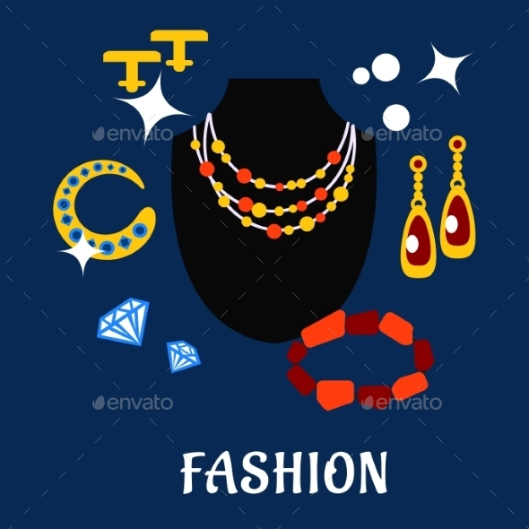 GraphicRiver Fashion And Jewelry Flat Icons 11976970