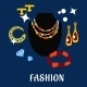 Fashion And Jewelry Flat Icons - GraphicRiver Item for Sale