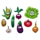 Fresh Tasty Cartoon Vegetables Characters - GraphicRiver Item for Sale