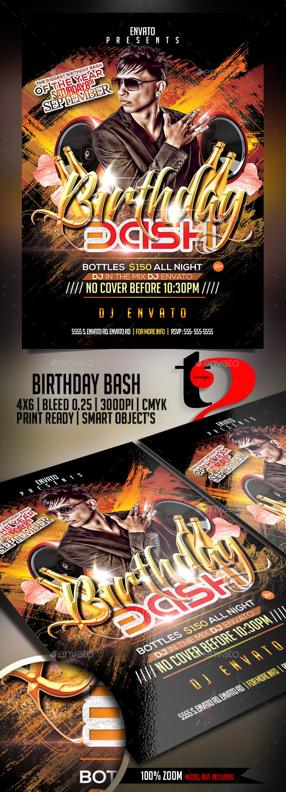 GraphicRiver Birthday Bash Flyer 11976981