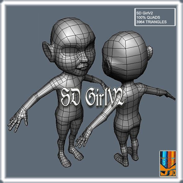 3DOcean SDGirlV2 11977350