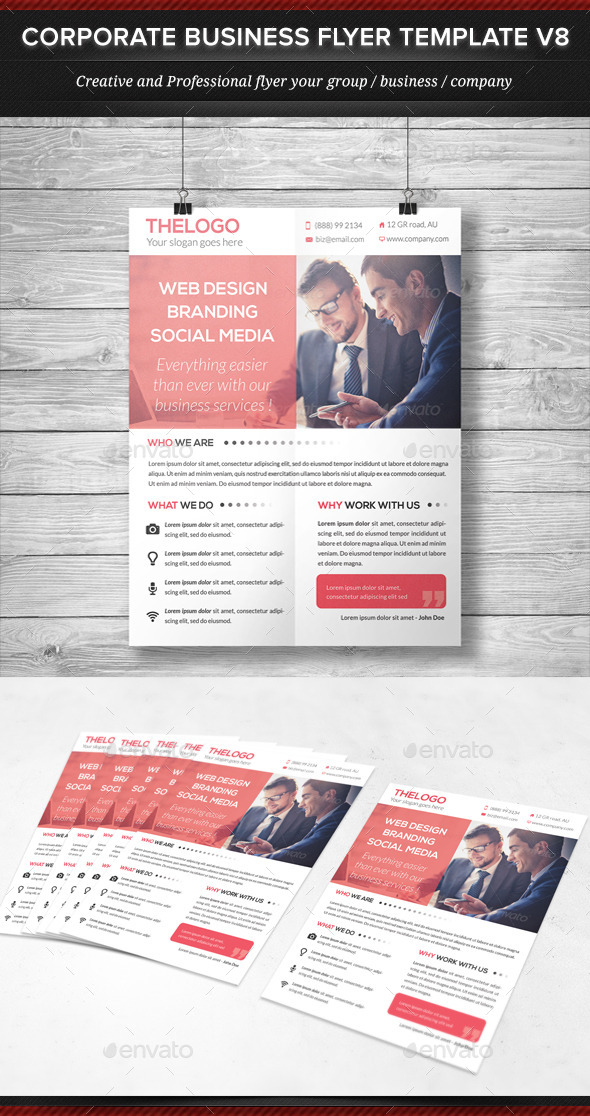 GraphicRiver Corporate Business Flyer Template V8 11977419