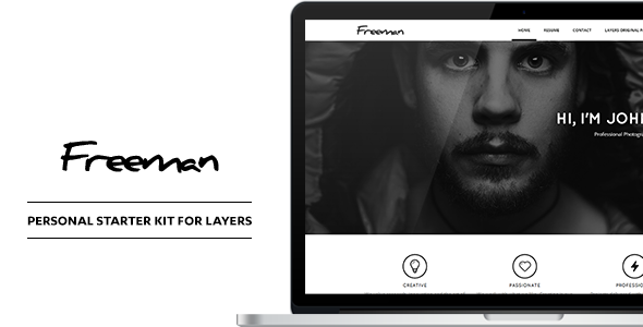 Freeman - Personal CV & Resume Style Kit