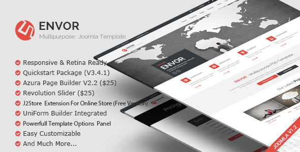 Envor — Fully Multipurpose Joomla Template