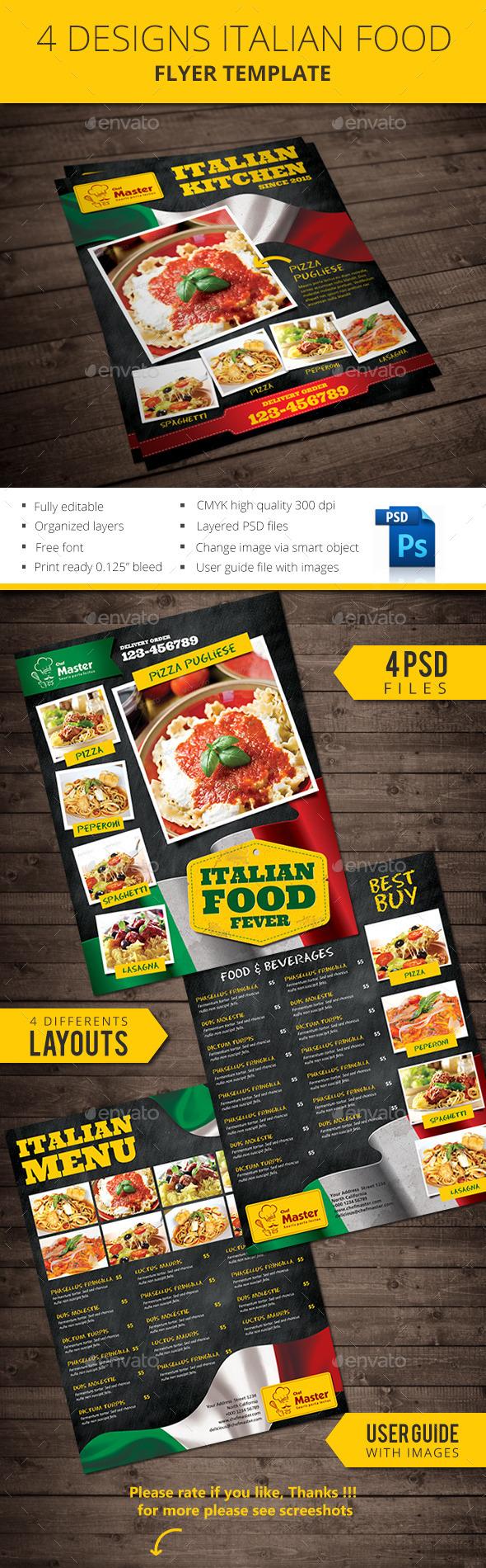 Italian Food Flyer
