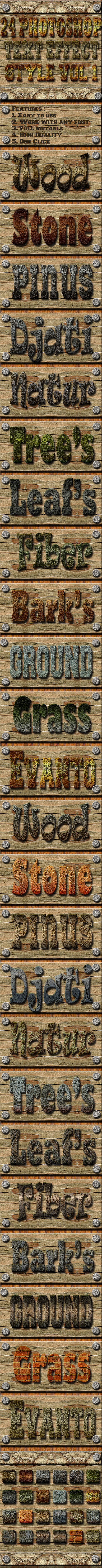 GraphicRiver 24 Photoshop Text Effect Style Vol 1 11977683
