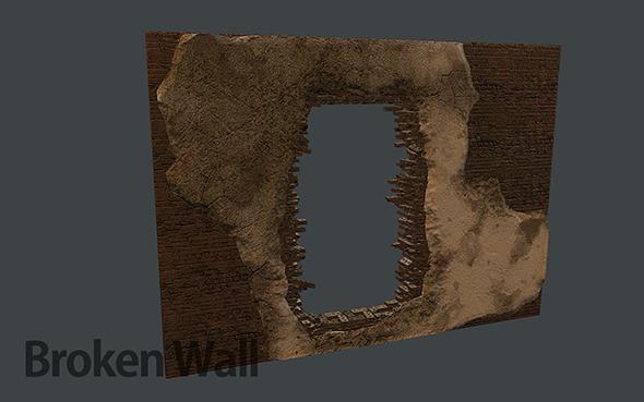 3DOcean Broken Brick Wall 11977708