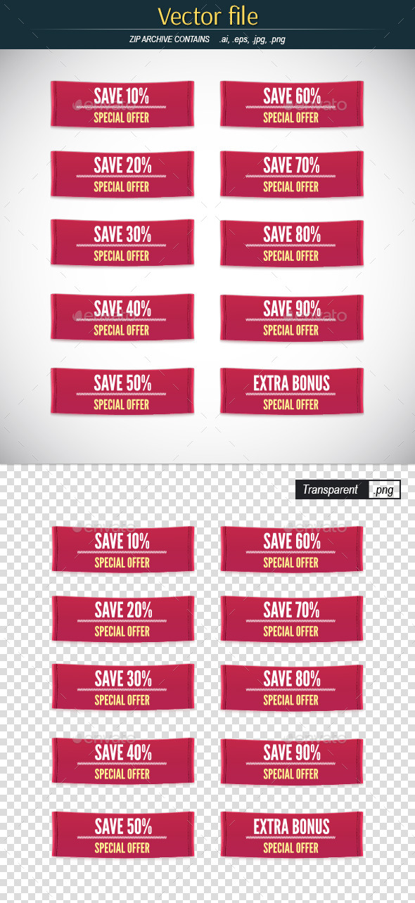 GraphicRiver Set of Clothes Label with Sale Percentage 11978302
