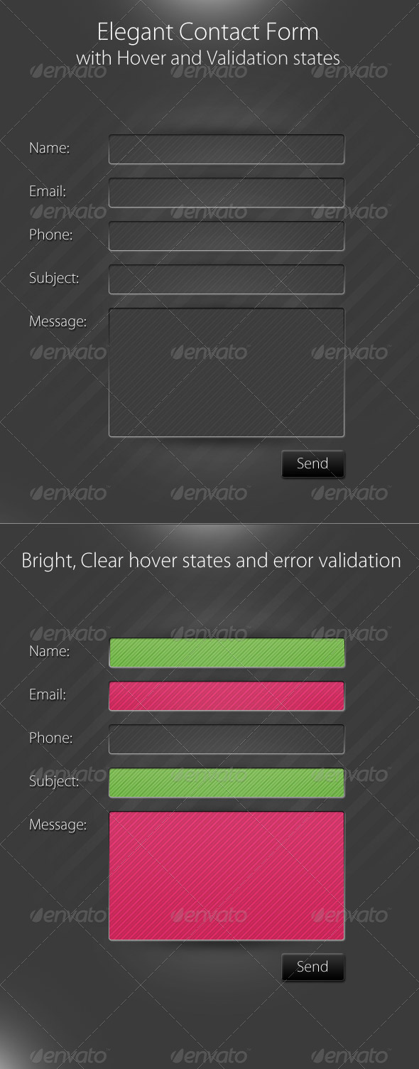 GraphicRiver Simple Elegant Contact From 146467