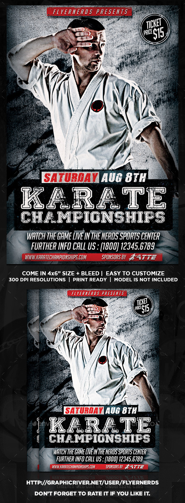 GraphicRiver Karate Championships Sports Flyer 11978531