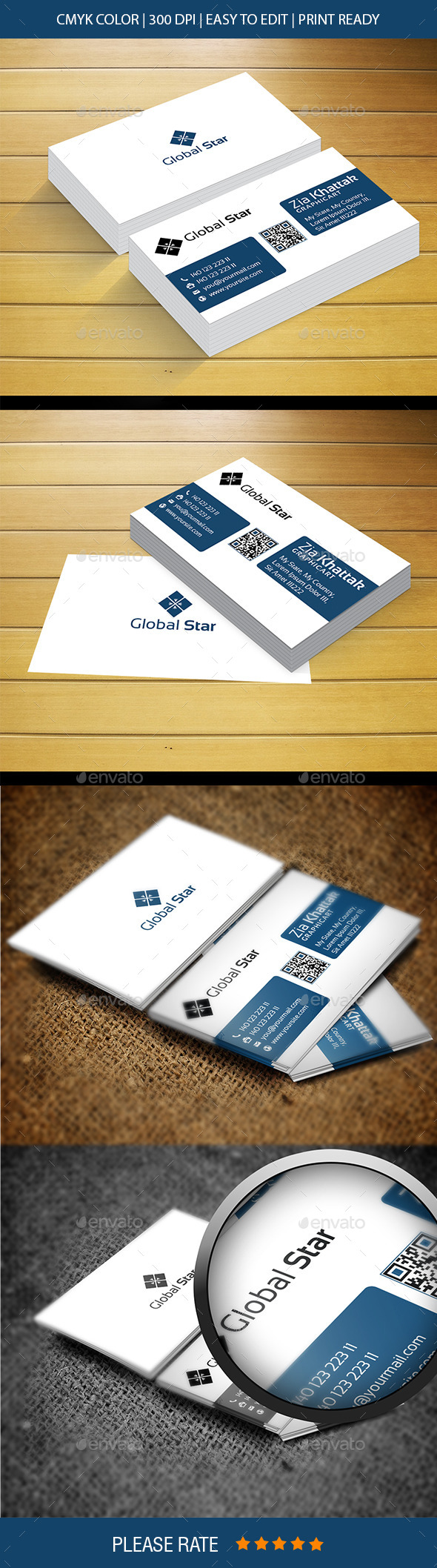 GraphicRiver Global Star Vol-20 Business Card 11978544