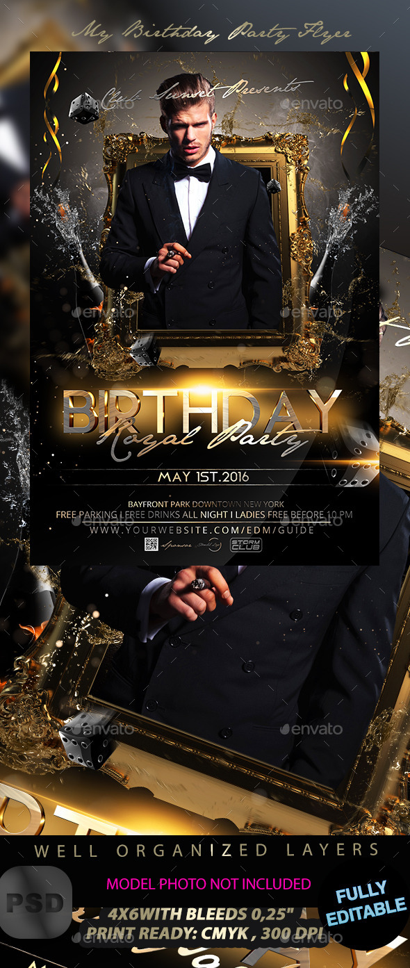 GraphicRiver My Birthday Party Flyer 11978584