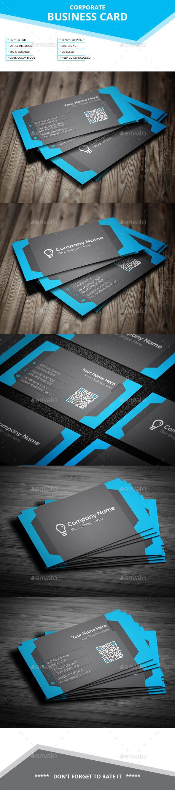 GraphicRiver Corporate Business Card SL 16 11978666
