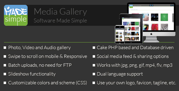 MadeSimple Photo/Video Gallery: Standalone or site Add-on