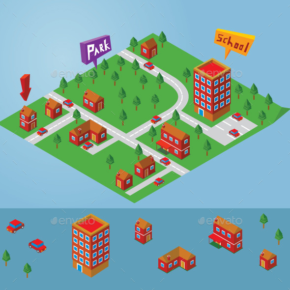 GraphicRiver Isometric Small Map 11978906