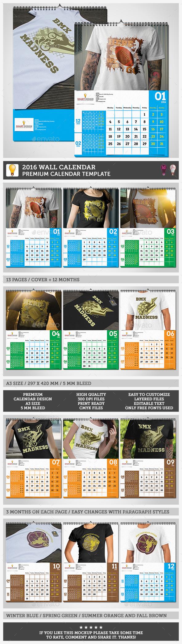 GraphicRiver 2016 Wall Calendar 11979048
