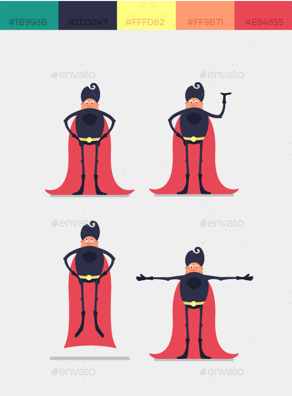 GraphicRiver Character Superhero 11975125