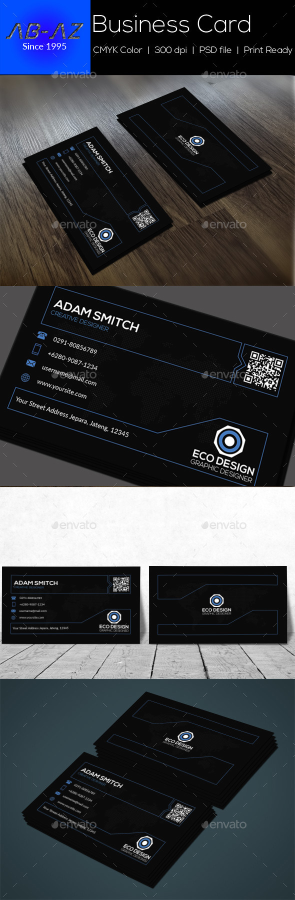 GraphicRiver Stylish Business Card 11979315
