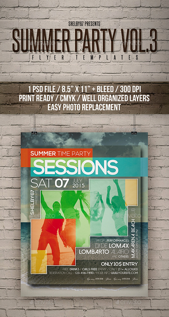 GraphicRiver Summer Party Flyer Poster Vol 3 11979400
