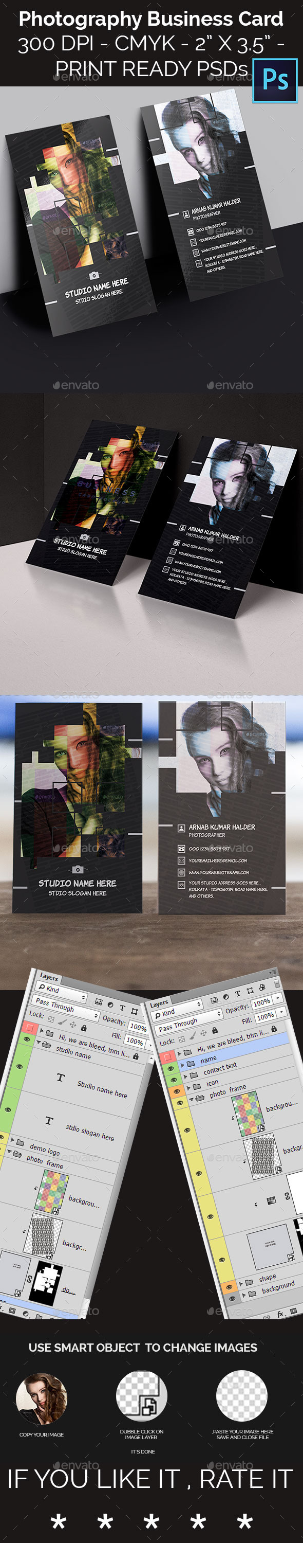 GraphicRiver Photography Business Card 11977545