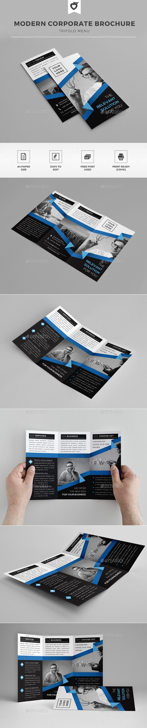 GraphicRiver Modern Trifold Brochure 11979975