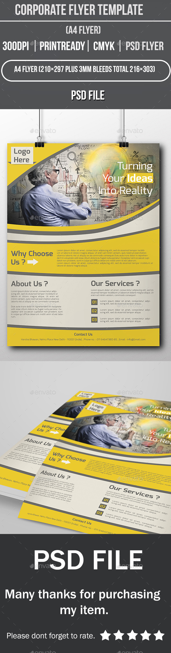 GraphicRiver Corporate Flyer Template 11980017