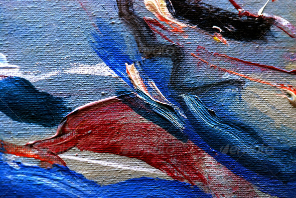 Abstract background drawn by oil paints - Stock Photo - Images