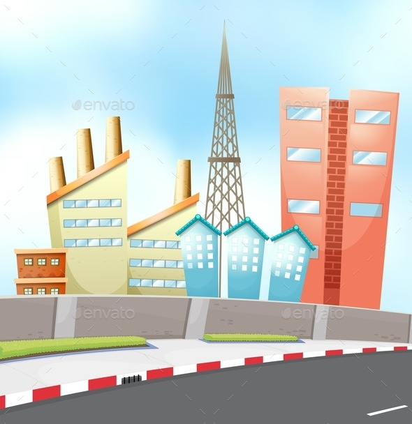 GraphicRiver City and Road 11980119