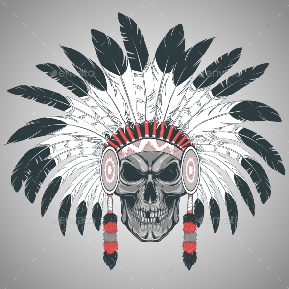 GraphicRiver Indian Skull Chief 11980320