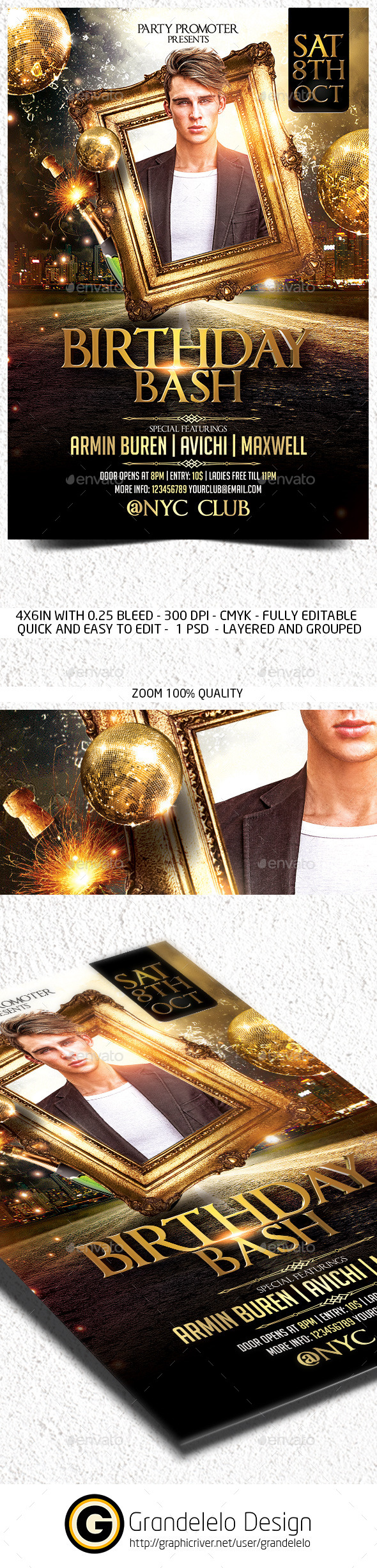GraphicRiver The Birthday Party Flyer Template 11980321