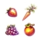 Set Of Fruits And Vegetables. Strawberry, Carrot - GraphicRiver Item for Sale