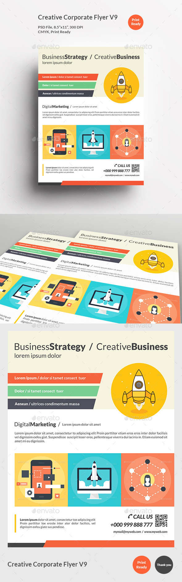 GraphicRiver Creative Corporate Flyer V9 11980674