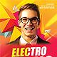 Electro DJ Flyer PSD  - GraphicRiver Item for Sale
