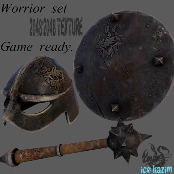 3DOcean Worrior Set 11982357