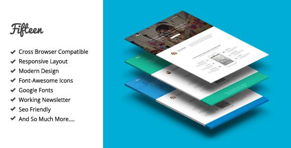 Fifteen - Amazing Landing Page Theme