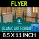 Islamic Art Exhibition Flyer Template - GraphicRiver Item for Sale