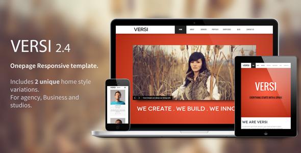 Versi - Onepage Responsive Theme