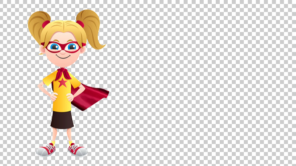 Super Girl Isolated