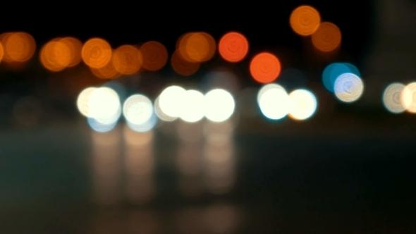 Defocused Night City Traffic