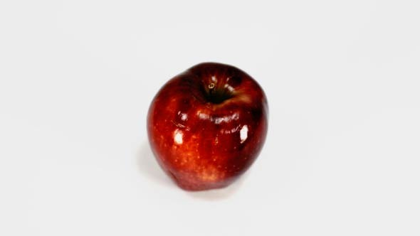 Rotating Red Apple