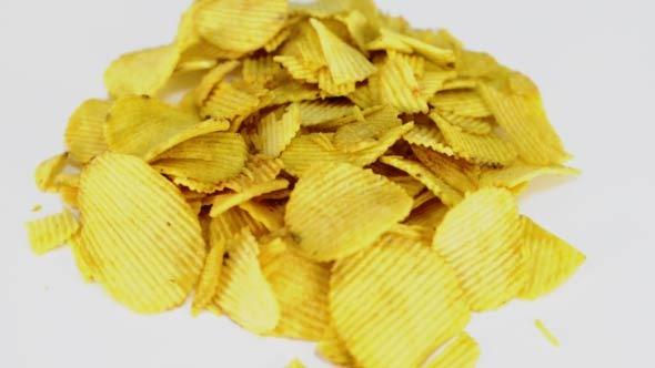 Potato Chips Rotating