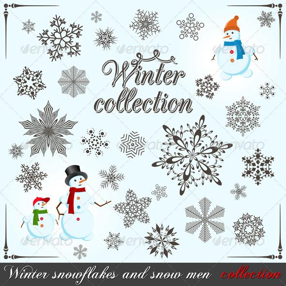 Winter collection - Web Elements Vectors
