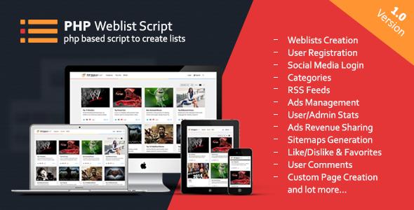 PHP Web List Script