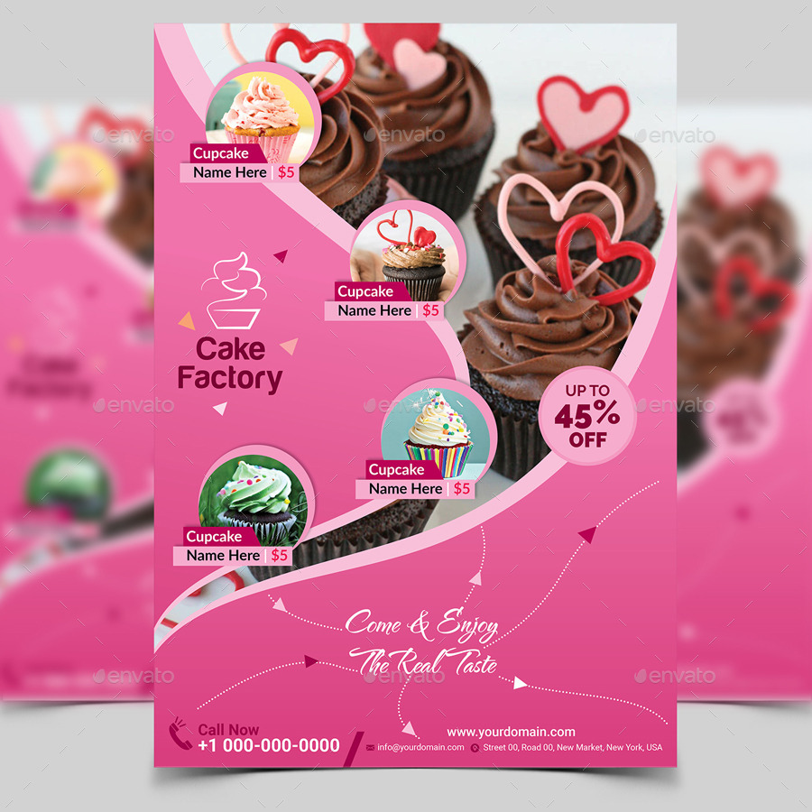 Cupcake Flyer Template V2 By Aam360 Graphicriver