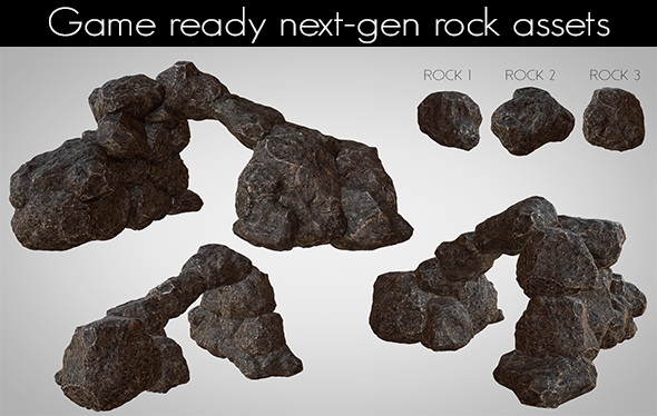 3DOcean Next-gen AAA Rocks 11993542
