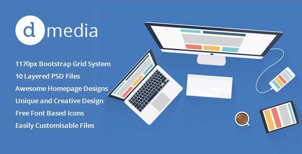 dMedia - Multi Purpose HTML5 Creative Template