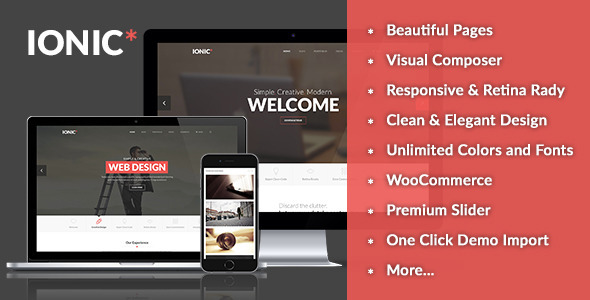 Ionic – Responsive Multi-purpose WordPress Theme (Business) Download