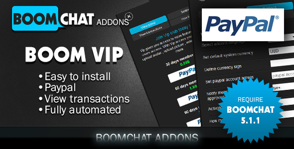 Boom vip addons for Boomchat php/ajax chat  (Add-ons) Download