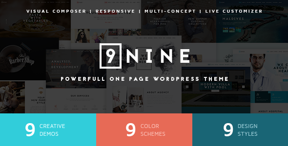 Nine MultiPurpose One Page Theme